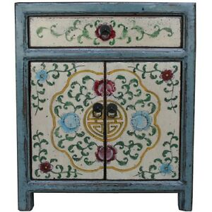 Superbe Image Is Loading Tibetan Furniture Tibetan Bedside Cabinet Painted Flora 34