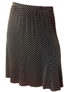 Plus-Size-1X-Skirt-by-Ve-Ve-Collection-Black-w-Tiny-White-Print-Stretchy-EUC
