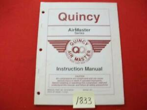 QUINCY-AIR-COMPRESSOR-INSTRUCTION-MANUAL-AMERICAN-CAST-IRON-AIRMASTER-SERIES