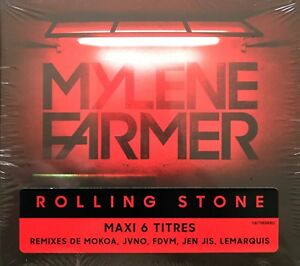 CD-MAXI-6-TITRES-MYLENE-FARMER-ROLLING-STONE-LIMITED-EDITION-NEUF-SOUS-BLISTER