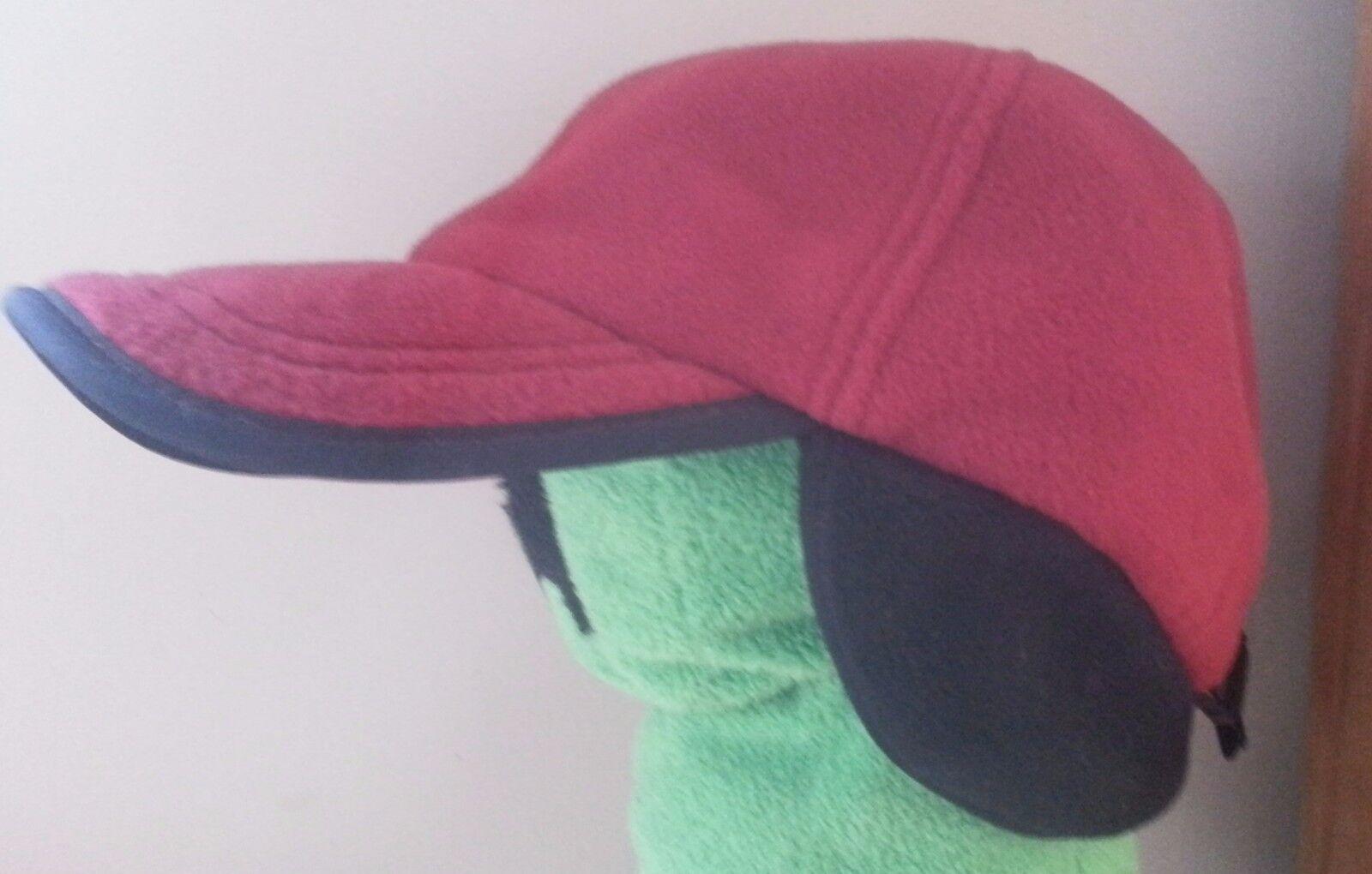Wind Pro Polartec LL Bean Hat Ear Flaps Dk Adjustable WARM Men Small/Medium Dk Flaps Red e758be