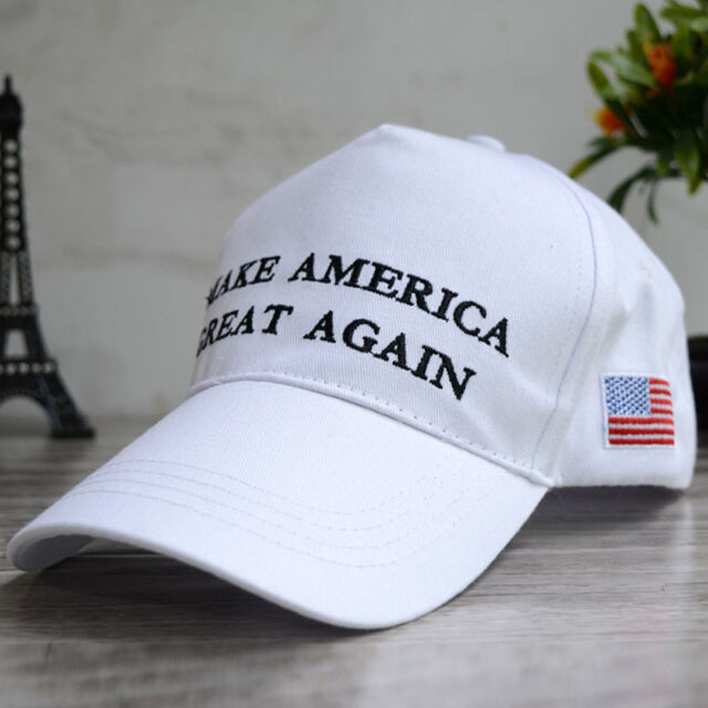 bbcec762a3c White Make America Great Again Donald Trump 2016 Campaign Hat Republican Cap