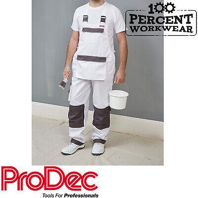 Trade Professional Bianco Pittori Decoratori Bib & Brace Pantaloni Da Lavoro Salopette-mostra Il Titolo Originale Moda Attraente