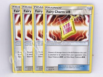 4x Pokemon TCGFairy Charm UB142//181 Team Up Uncommon Trainer Card