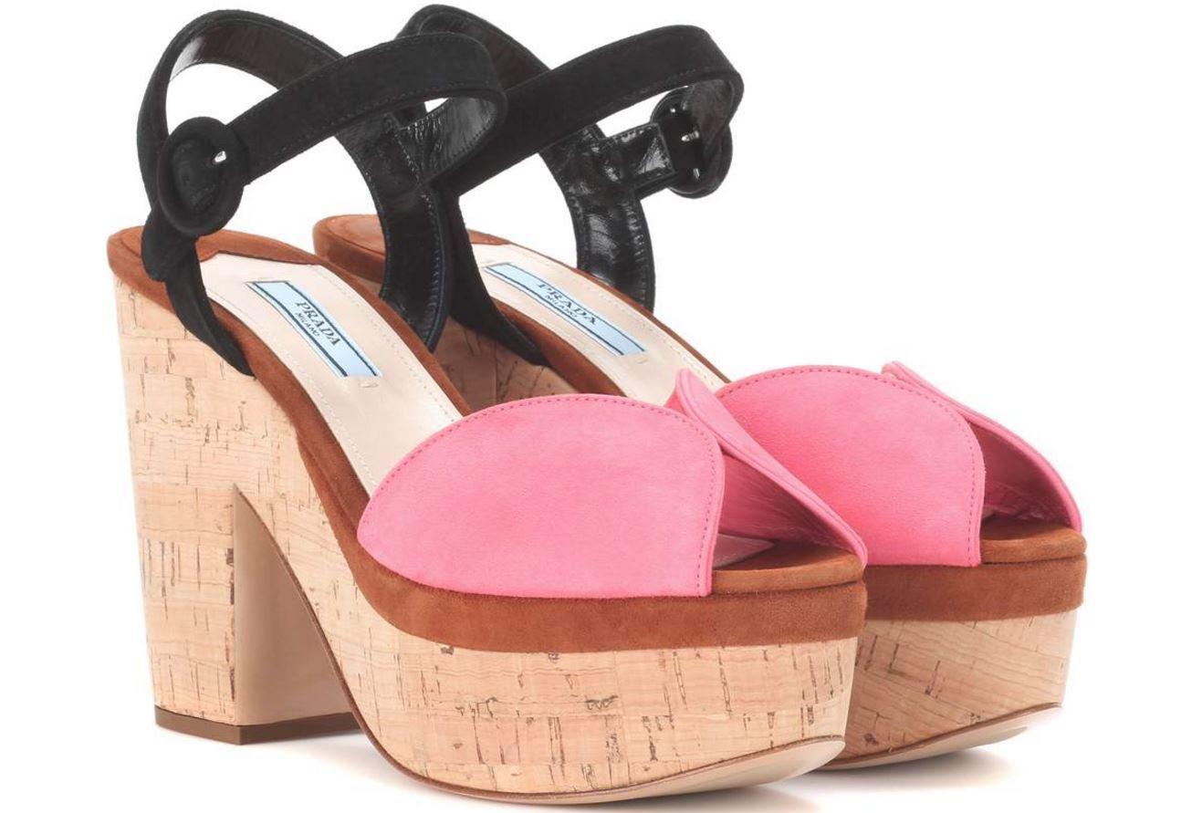 Authentic Prada Platform Sandals Fragola Palissa  New in Box sz.36 MSRP  820