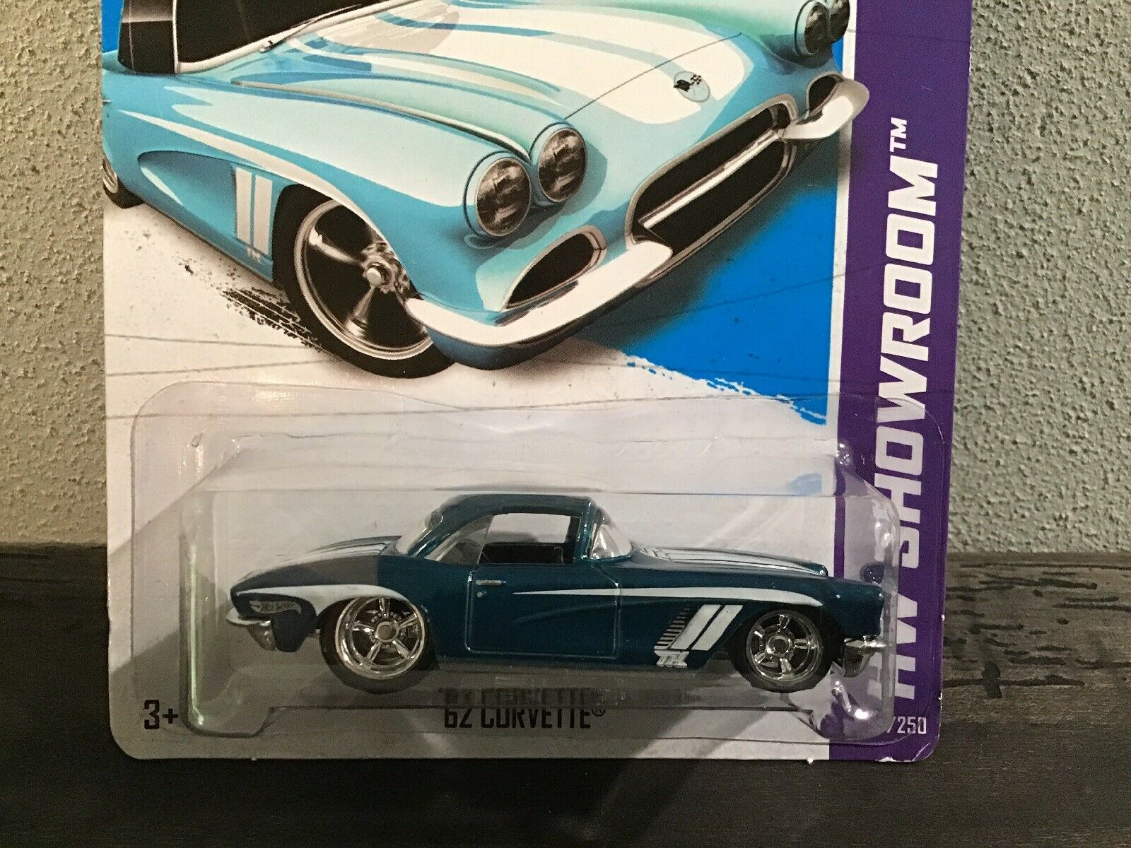 Hot Wheels 2013 Super Treasure Hunt Blau 1962 Chevrolet Corvette