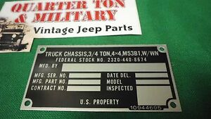 Dodge-M37-M53B1-Chassis-truck-Nominclature-plate-W-Win-P8