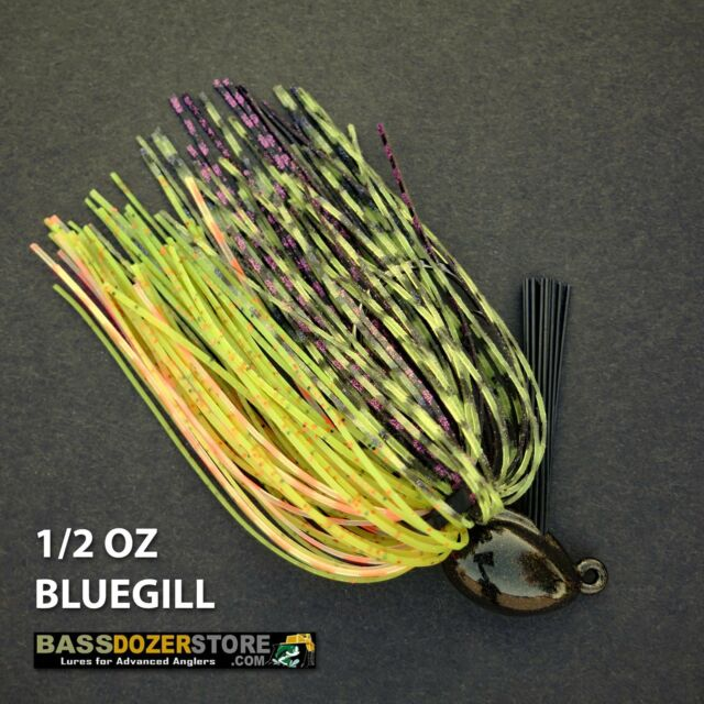 Bassdozer PUNCH 'N FLIP jig. 1/2 oz BLUEGILL weedless bass jigs lures