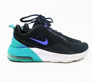nike women's black/teal air max motion 2 casual running
