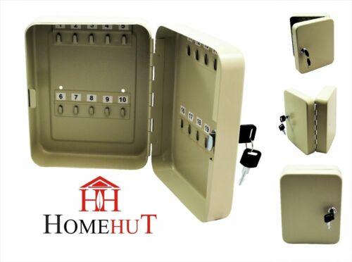 Armoire à clés cadenas de sécurité métal//Boîte de rangement coffre mural avec porte-clés