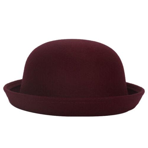 Unisex Women Men Ladies Vintage  Top Hat Roll Up Brim Derby Dome Cap Angel