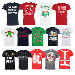 Christmas T-Shirts - Funny Slogans Statements - 14 Great Designs - Sizes S-XXL
