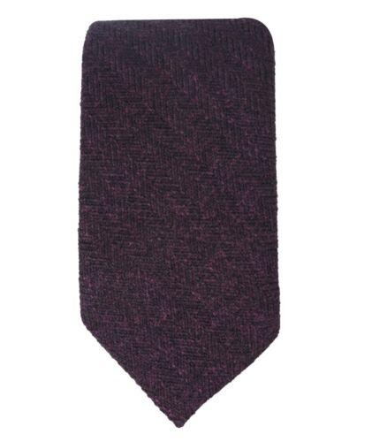 Homme Garçon Enfants Mariage Herringbone Tweed Violet Cravate Fine Cravate /& Mouchoir de Poche Lot