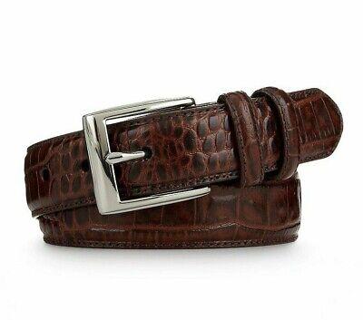 Mens Luxury Genuine Leather Brown//Black Dress Belts for Men Alligator//Crocodile Pattern Tiger Plaque Buckle