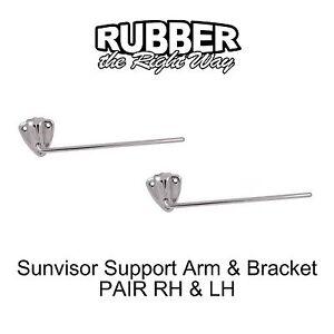 1949 1950 1951 Mercury Sunvisor Arm Amp Bracket Pair Ebay