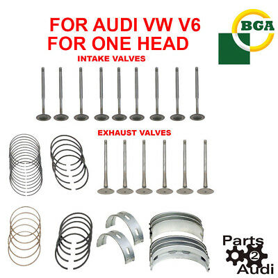 Engine Intake,Exhaust Valves,Main Bearing Connecting Rod Bearing Set For Audi V6