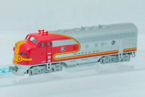 Kato-176-2121-N-Gauge-EMD-F7A-Santa-Fe-Warbonnet-Diesel-Locomotive-No-300