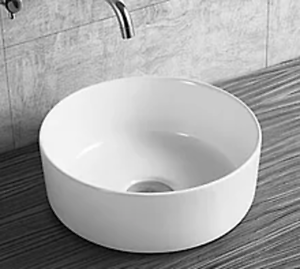 NEW Rondo Above Counter Basin Round Ceramic Thin Edge 350x125mm