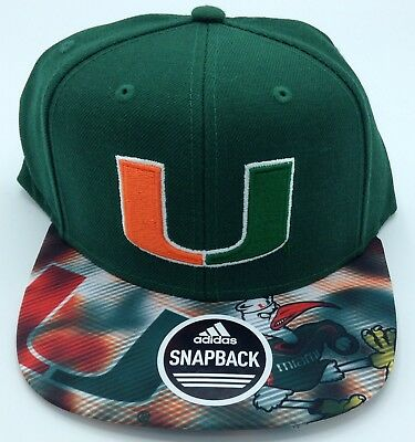Basketball Ncaa Miami Hurricanes Adidas Snap Back Design Under Brim Cap Hat Beanie #vs77z Good For Antipyretic And Throat Soother