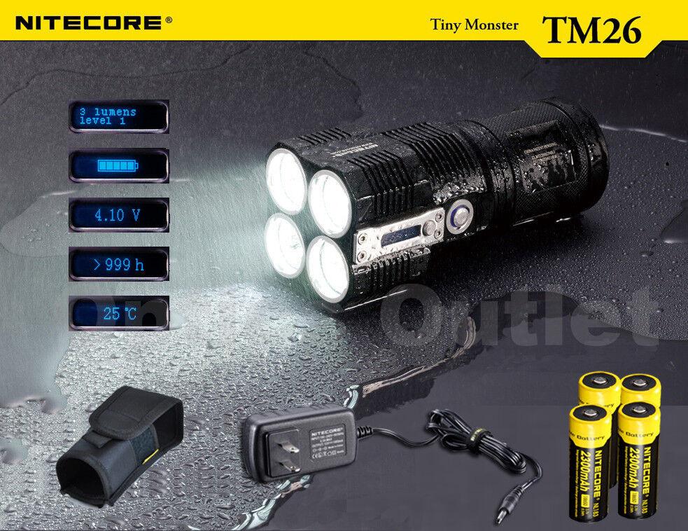 NiteCore TM26 4000 Lumen Brightest Cordless Rechargable Marine Searchlight