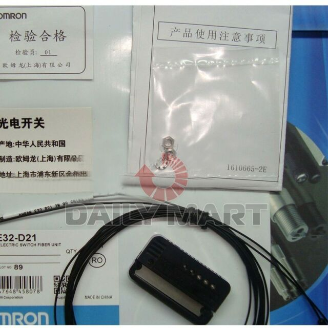 Fst  New  Omron Photoelectric Switch Fiber Unit E32-D21  free shipping