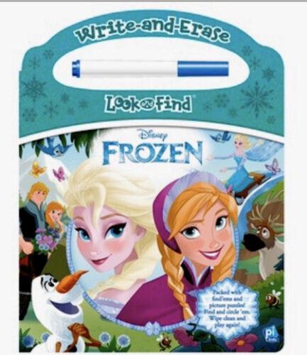 Look /& Find Activity Book Write /& Erase Disney's FROZEN Toy W//Erase Pen-NEW