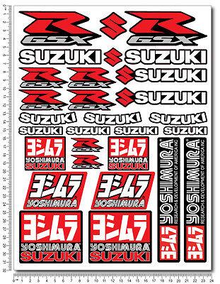 Suzuki GSXR sticker set 29 decals Laminated gsx-r 600 1000 yoshimura k5 k7 L1