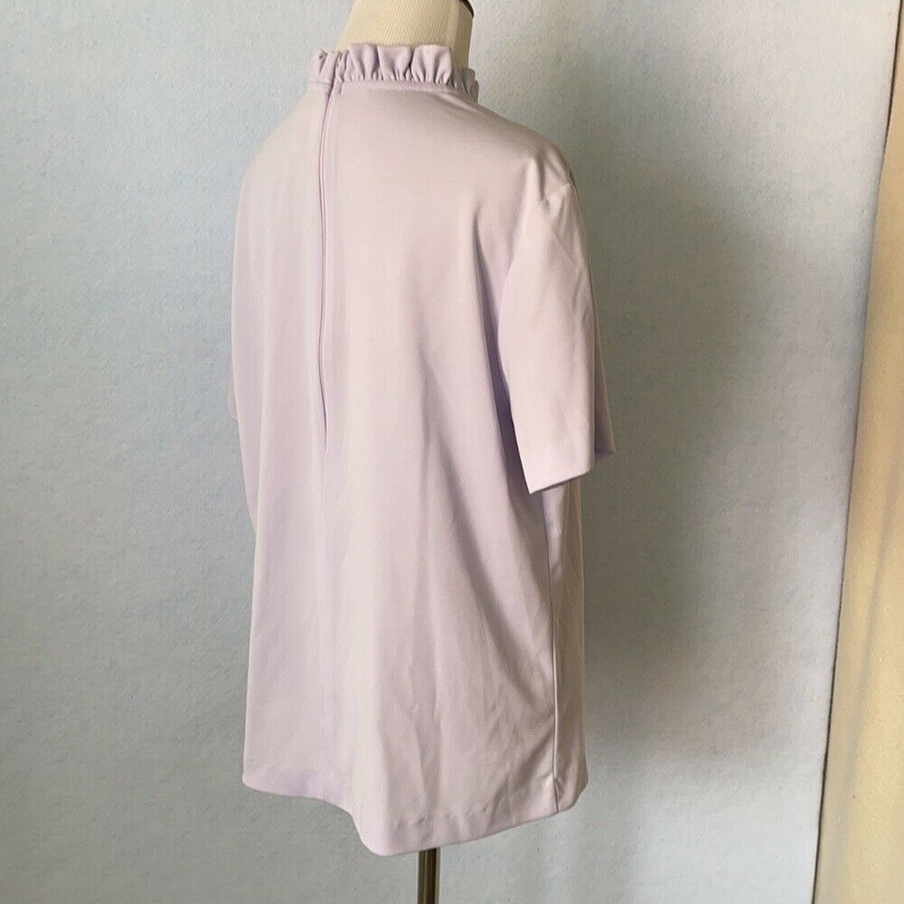 Graff Vintage Lilac Ruffled High Tie Neck Blouse,… - image 5
