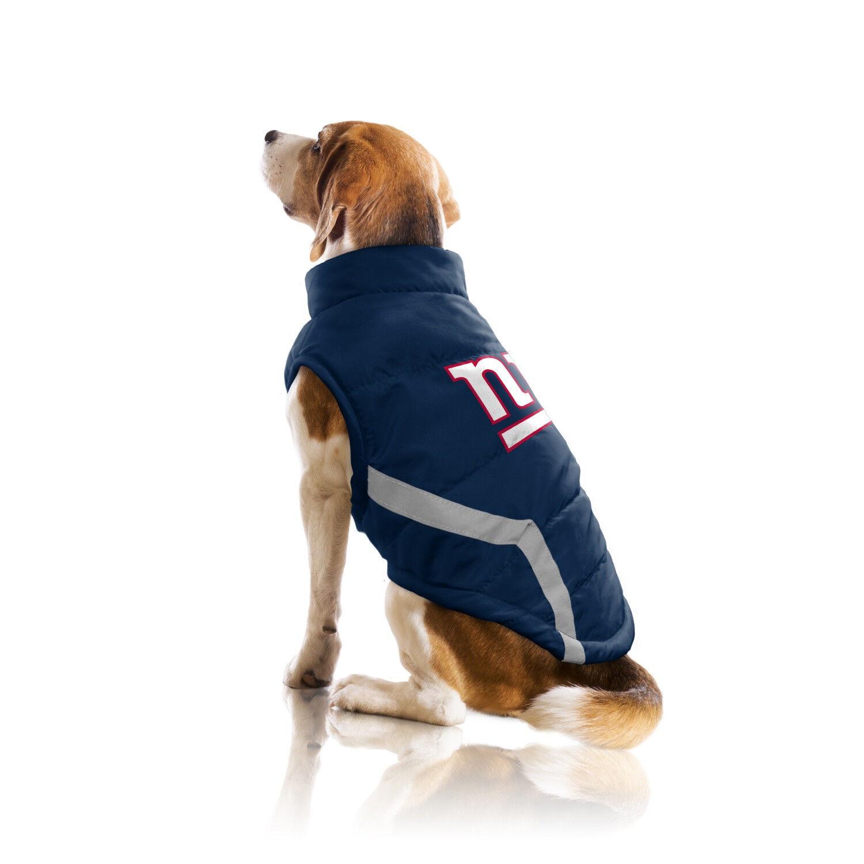 New York Giants NFL Little Earth Production Dog Pet Puffer Vest Dimensiones S-3XL