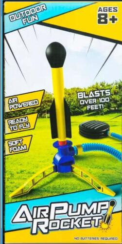 Air Pump Rocket Go Up To 100' Air Pump Powered Outdoor Toy Rocket Summer Fun