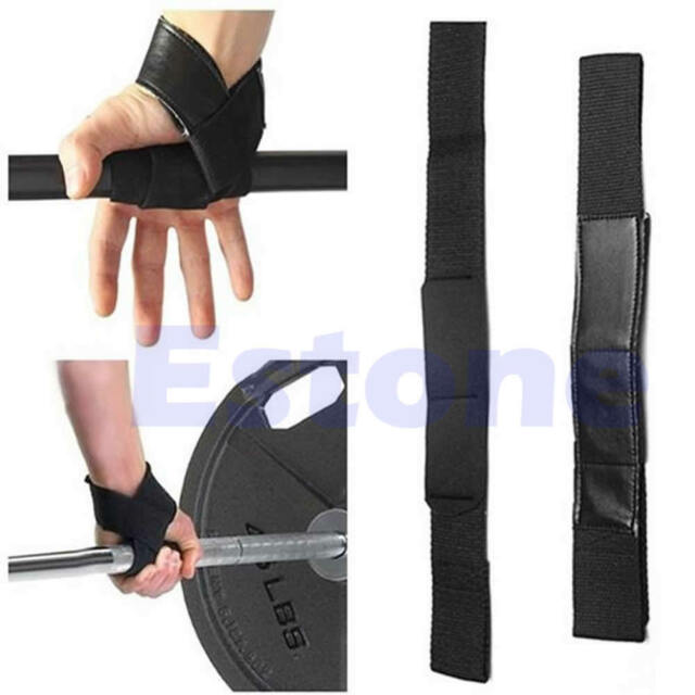Black Wrist Support Gloves Wrap Hand Bar Straps For Weight Lifting Training Gym