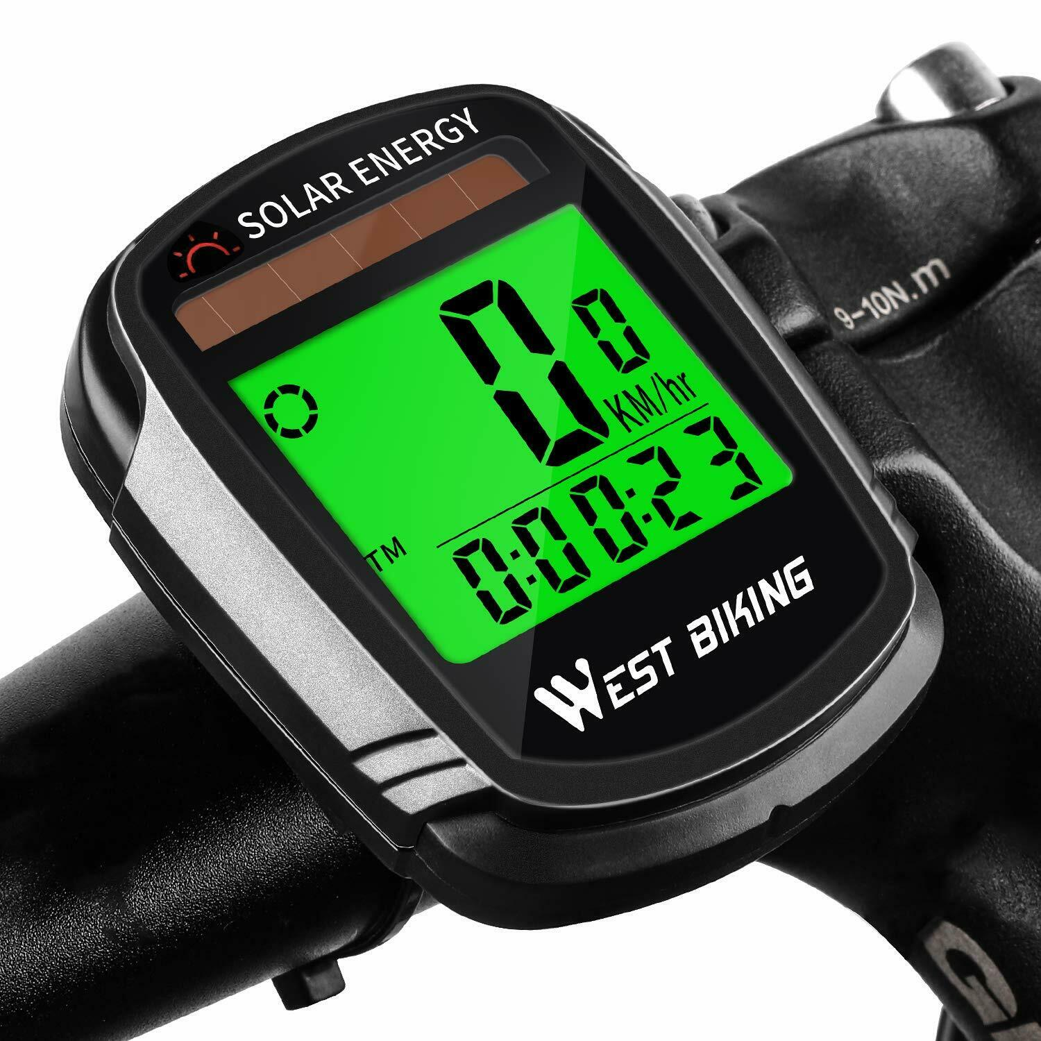 Bike Computer with Solar Energy Bicycle Speedometer and Waterproof  Odometer  low prices