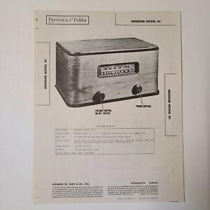SAMS PHOTOFACT SERVICE MANUAL 37-12 MEISSNER RADIO MODEL 8C