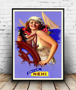 Drink-Nehi-Vintage-magazine-advert-Poster-reproduction