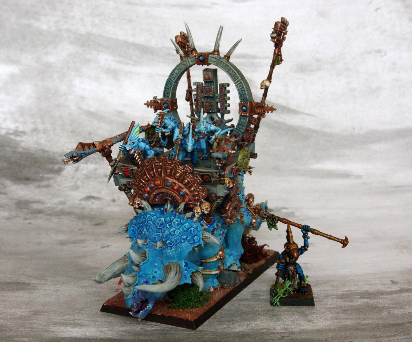 STEGADON Motor de los dioses Warhammer edad de Sigmar Lagarto