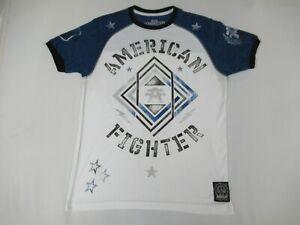Nwot-American-Fighter-Premium-Atletico-Bianco-Blu-T-shirt-M-D238
