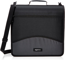 3 Ring Binder With Zipper O Ring 3 Inch Black Multiple Pockets Durable Design