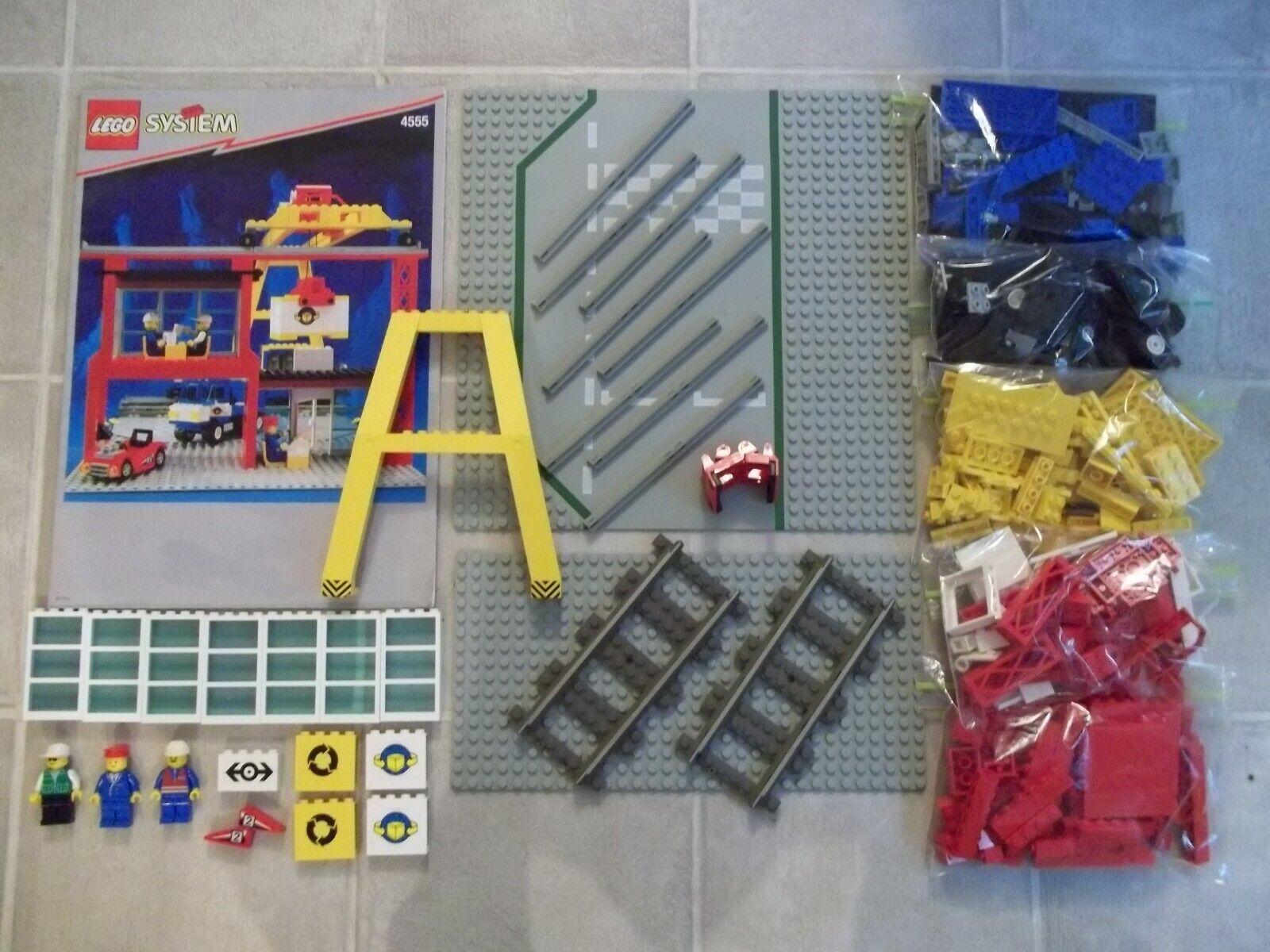 Lego 4555 Estación De Cochega Ciudad Tren Clásico con instrucciones no completar
