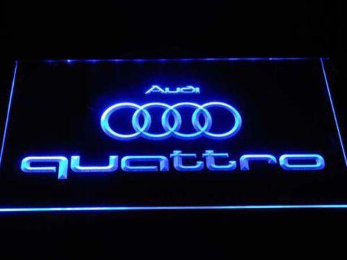 Audi Quattro Racing-car auto Neonzeichen Leuchtschild garage dekor bar club bier