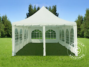 Image is loading Marquee-Party-Tent-4x8-m-PE-Garden-Gazebo- & Marquee Party Tent 4x8 m PE Garden Gazebo 4m x 8 m Canopy Pagoda ...
