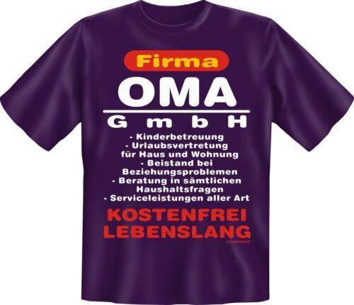 T-Shirt Firma Oma GmbH Geburtstag Muttertag Fun Shirts Geschenk bedruckt