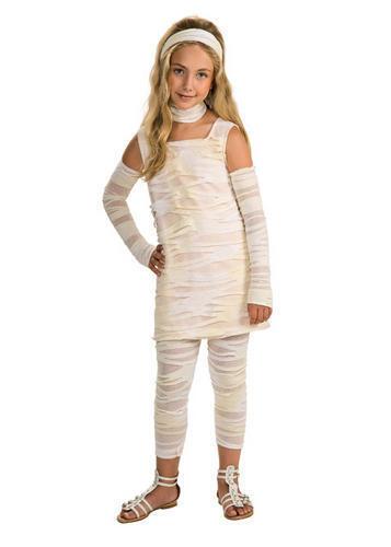 Mummy-Ista Girls Halloween Kids Fancy Dress Ancient Egypt Childs Costume 3-10 Y