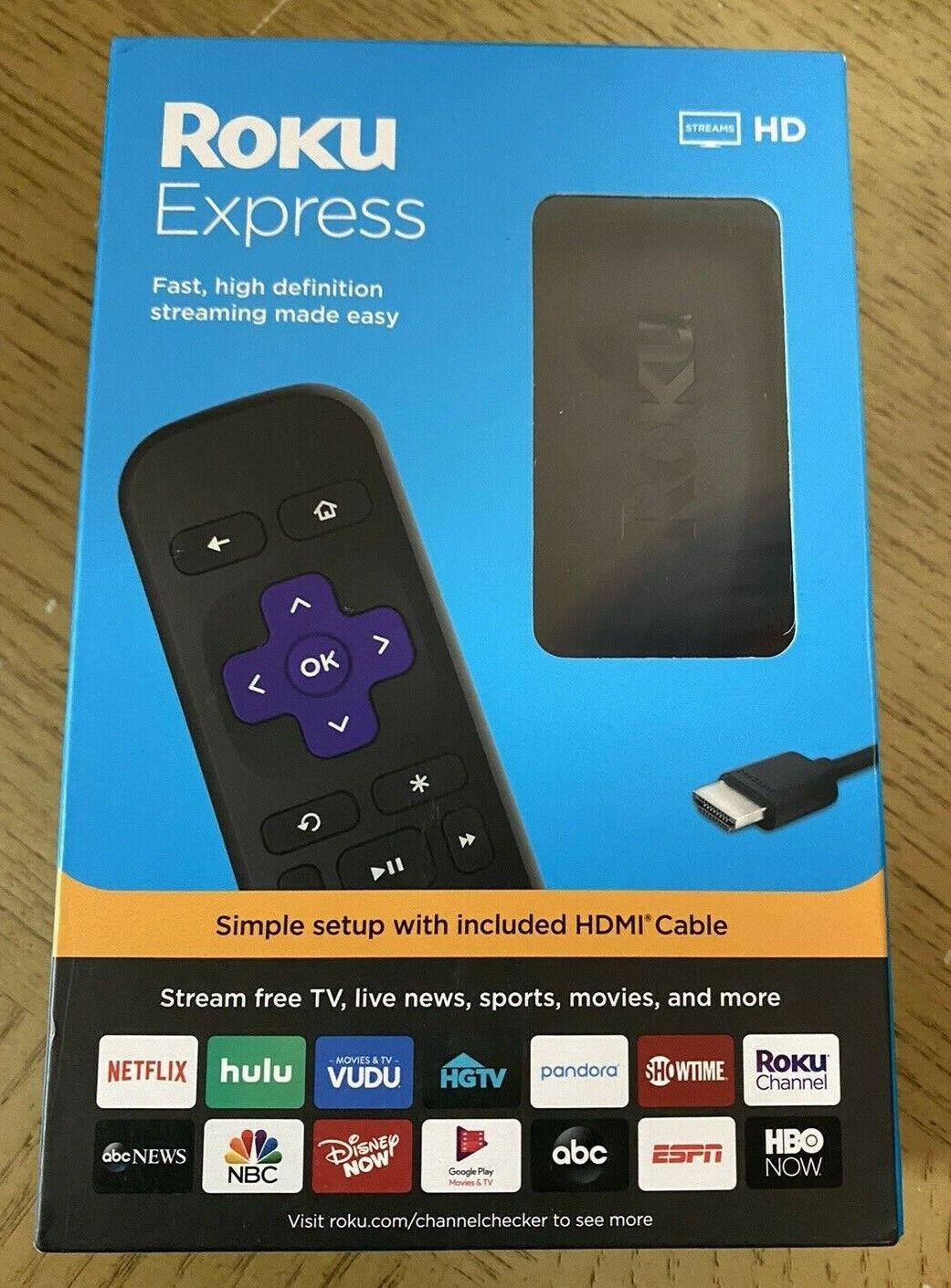 Roku Express HD Streaming Media Player 2019 Model - 3930R  high definition definition express media model player roku streaming
