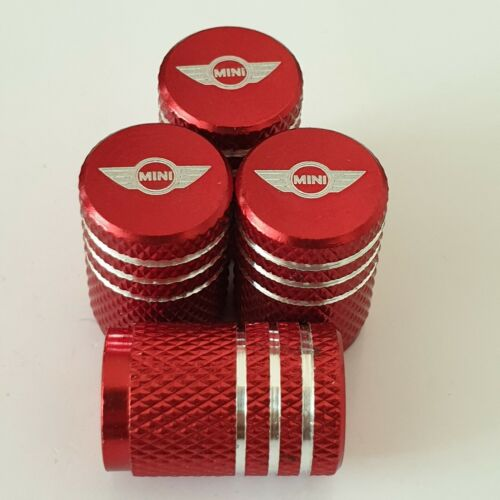 CLUBMAN RED Laser engraved Tyre Valve Stem Dust Caps Alloy for all Models R52
