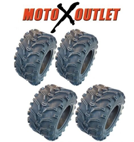 Kenda Bear Claw 25x8-12 25x10-12 ATV Tires All Terrain Set of 4 Front Rear 6 Ply