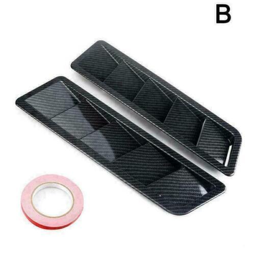 Hood Vent Scoop Cover Louver ABS Fiber Style Universal Auto Durable Bonnet B6Q5