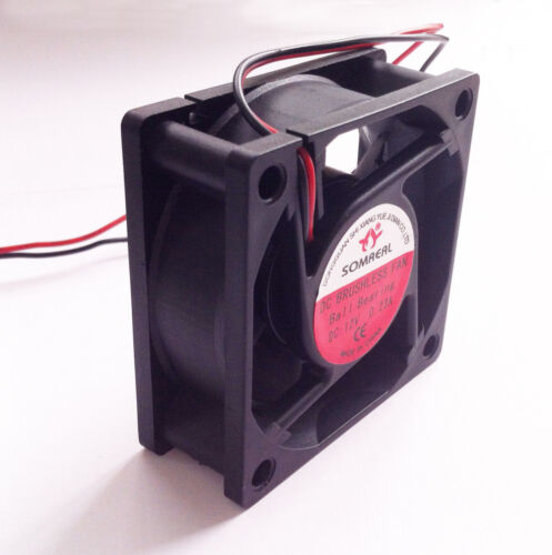 12V Cooling Computer Fan Small 60x60x25mm DC Brushless 2-pin
