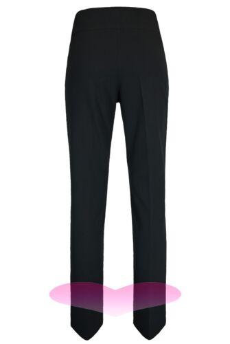 WOMENS LADIES GIRLS 31inch LEG BLACK HIGH WAIST TROUSERS STRAIGHT LEG LONG PANTS
