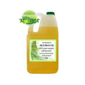 7 LB / 1 Gallon Premium Rice Bran Oil Pure Organic Cold