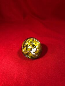 Yellow-and-White-Paperweight